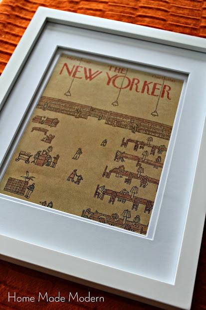 framed magazine cover
