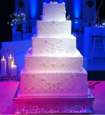 Pin Spot Lighting for Wedding Cake