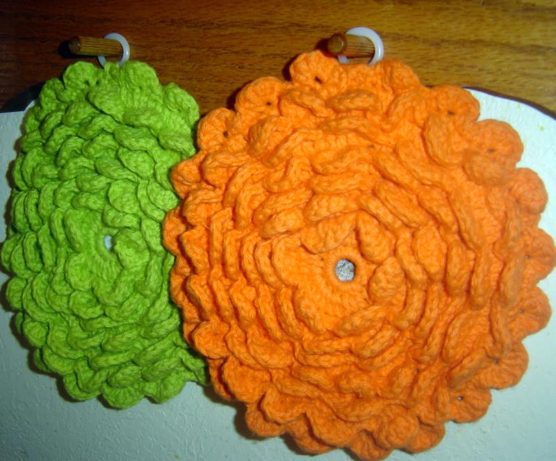 Crochet Flower Potholder Pattern : Potholder Pattern Crochet images