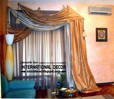 New scarf curtain designs, Scarf curtains ideas | Curtain Designs