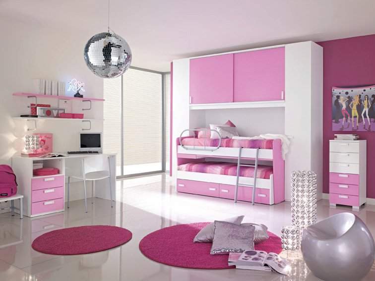 Decoraci n cuarto ni os on pinterest small bedrooms for Habitaciones para nina