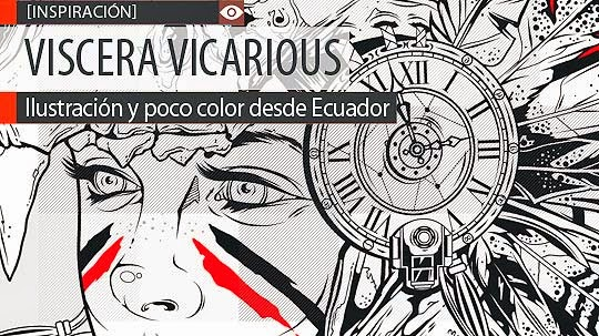 Ilustración y poco color de VISCERA VICARIOUS