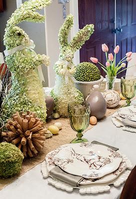 Donnau0027s Blog Easter Dinner TAble Settings | Dear Lillie Blog & Easter Dinner Table Settings -