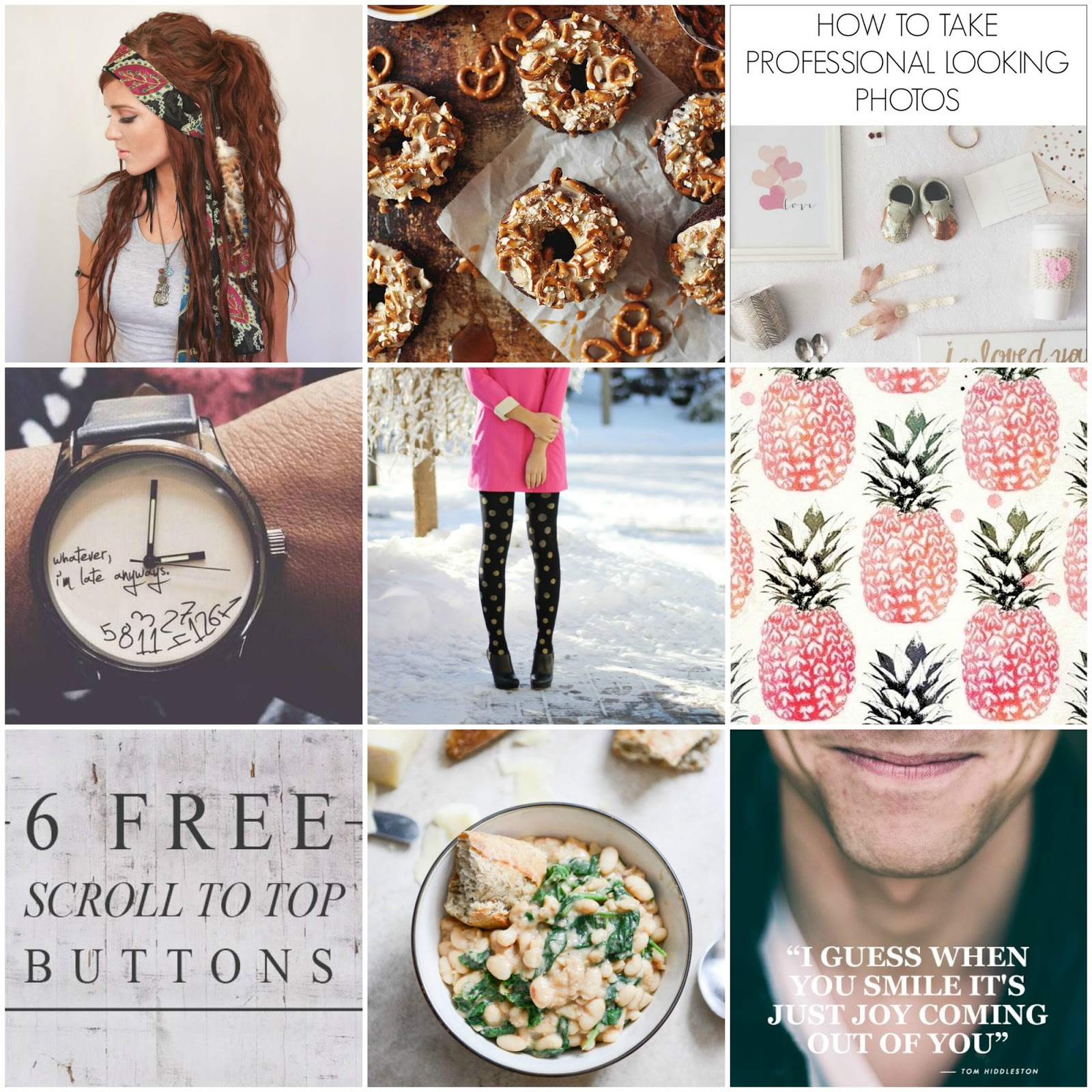 Boone  and Owl Pinspiration: Gypsy Style, The Freckled Fox, Tom Hiddleston quotes, bean stew recipe, kate spade tights