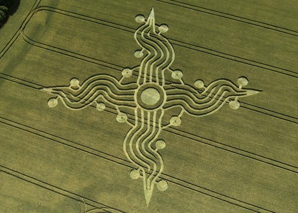 Os misteriosos Círculos Ingleses - Crop Circles - Círculos no Trigo