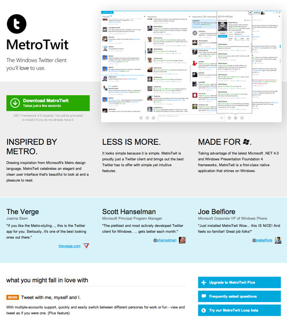 MetroTwit best Metro UI design