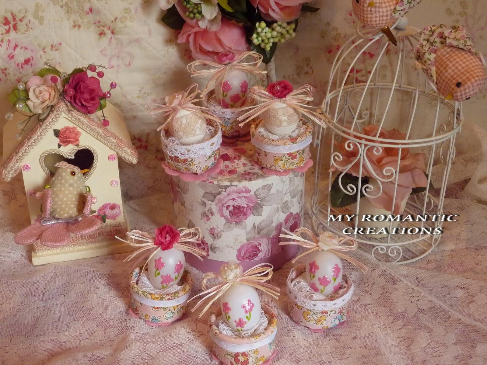 My romantic creations ovetti di pasqua - Uova di pasqua decorati ...