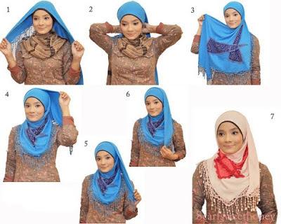 cara memakai jilbab segitiga simple namun stylish