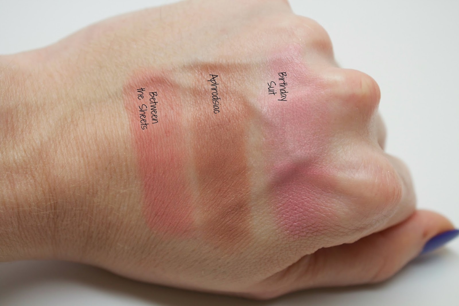 Colour Pop Super Shock Cheeks, swatches, @girlythingsby_e, Between the Sheets, Aphrodisiac, Birthday Suit