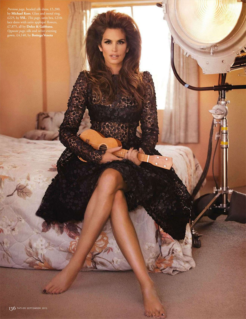 Cindy crawford proves a timeless beauty for tatler s sept issue