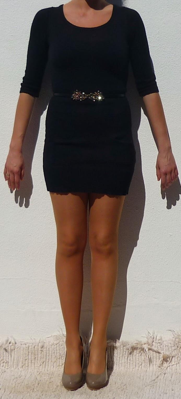 vestido punto corto