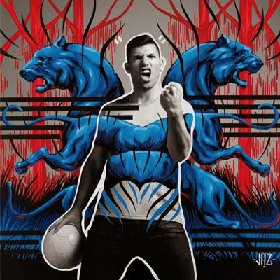 El Arte del Fútbol Pepsi por Jaz y Danny Clinch con Sergio Agüero