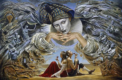 """""""El ángel guardián"""" de Michael Cheval, poema del día, Federico García Lorca, poesía en Alcalá de Henares"""