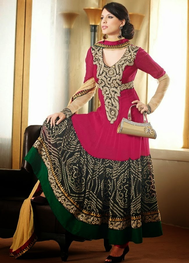 fashion glamour world anarkali stylish churidar shalwar