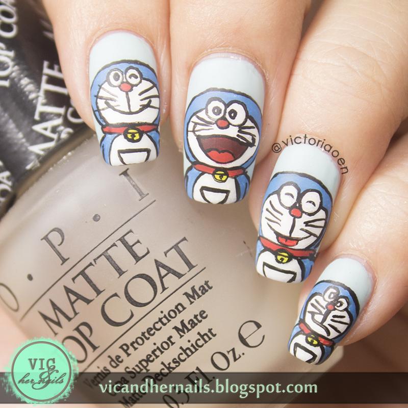 Vic And Her Nails Digital Dozen Does Fandom Day 3 Doraemon