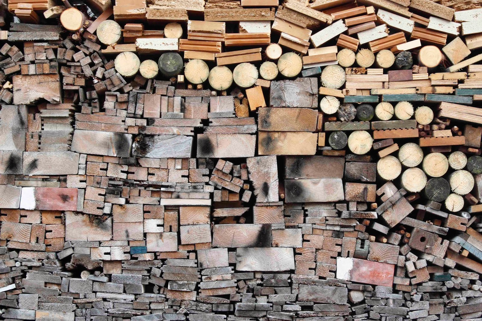 piled up wood