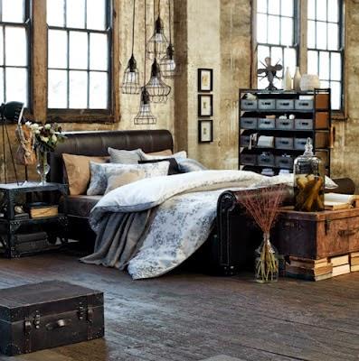 Dormitorios en estilo industrial dormitorios colores y for Paredes estilo industrial