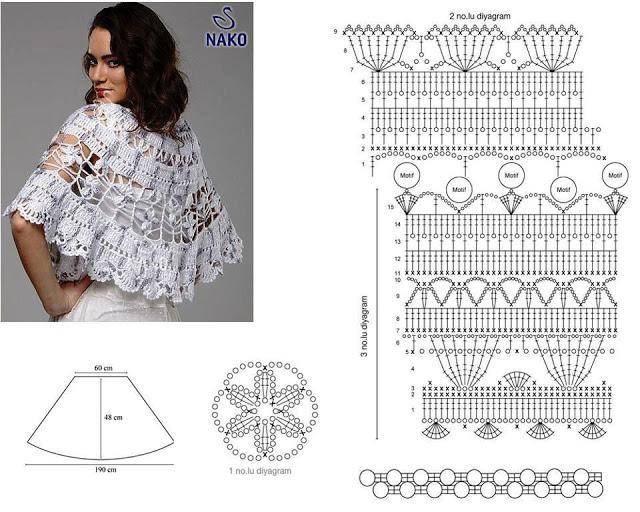 Схема вязания крючком накидки на плечи 24