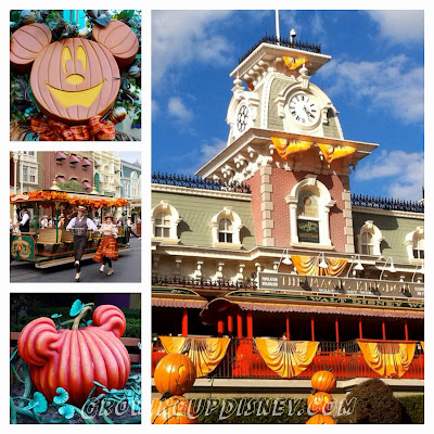 Fall decorations at the Magic Kingdom