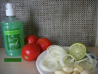 Usando alho, cebola - Teste com limão, leite e sabonete líquido anti odores.