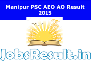 Manipur PSC AEO AO Result 2015