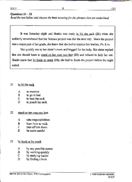 Pmr english paper 2 marking scheme - Pretoria Boys High School