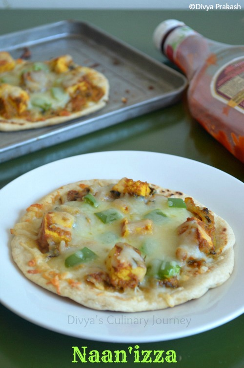 Naan pizza , Pizza with Indian touch