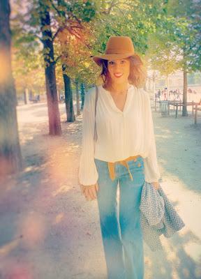blog mode jean blouse bash chapeau