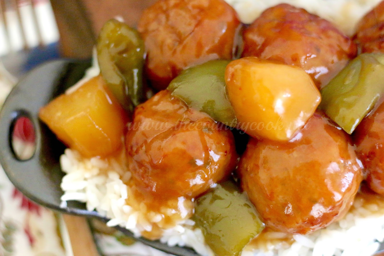 Crock Pot Sweet & Sour Meatballs - The Country Cook