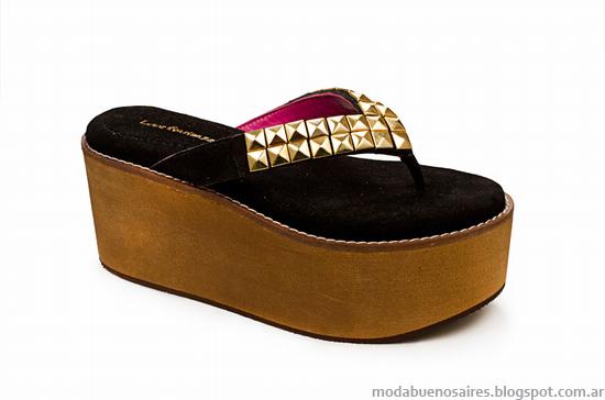 Laura Constanza moda verano 2014 sandalias, zapatos y chatas.