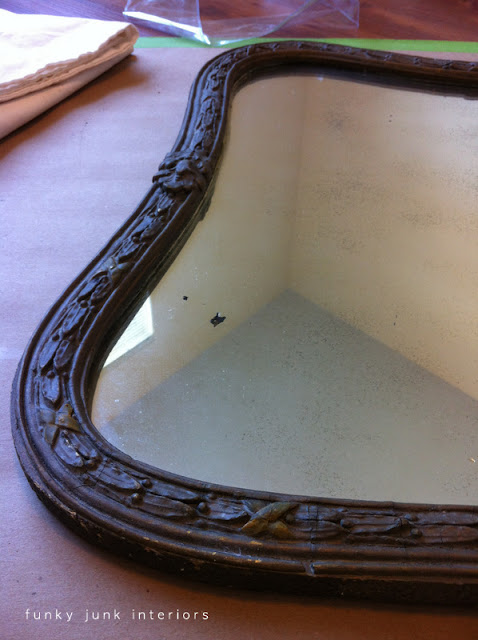 antique wooden framed mirror