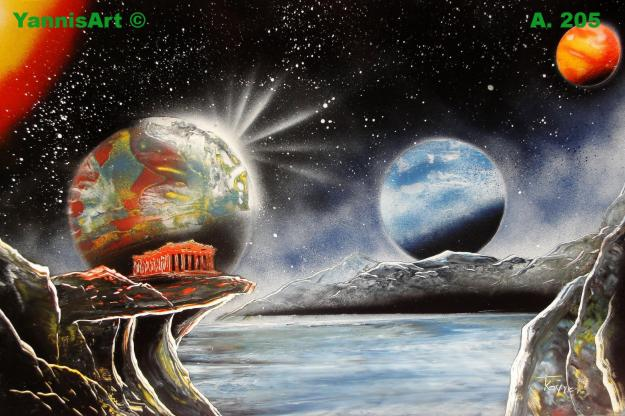 Space Art Spray Paint Art By Yannisart Yannis Koutras