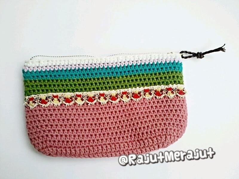 Dompet Rajut, crochet wallet, crochet purse, pola dompet rajut, dompet vintage
