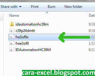 Cara Install Font Windows