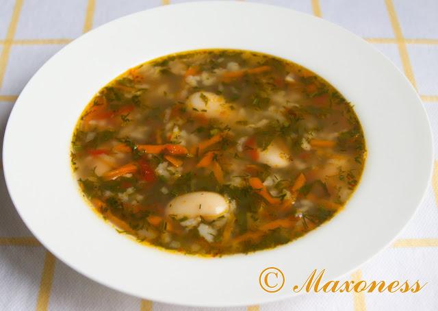 Суп из лобио. Грузинская кухня.
