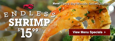 endless shrimp at red lobster $15.99 august 2013