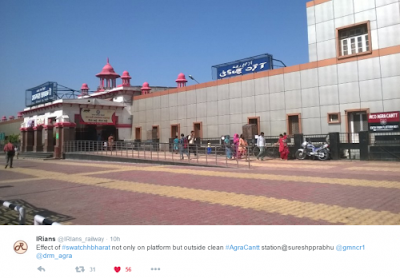 Agra Cantonment railway station  outside scene