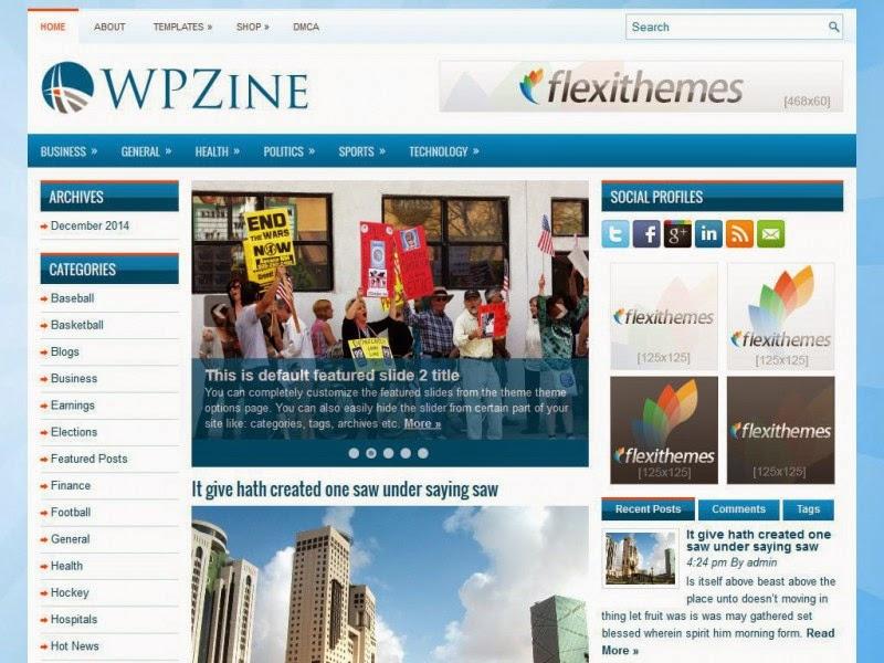 WPZine - Free Wordpress Theme