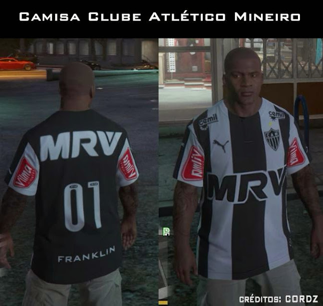 Camisa do Atletico Mineiro para GTA 5