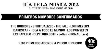 Día de la música 2013 primeras confirmaciones