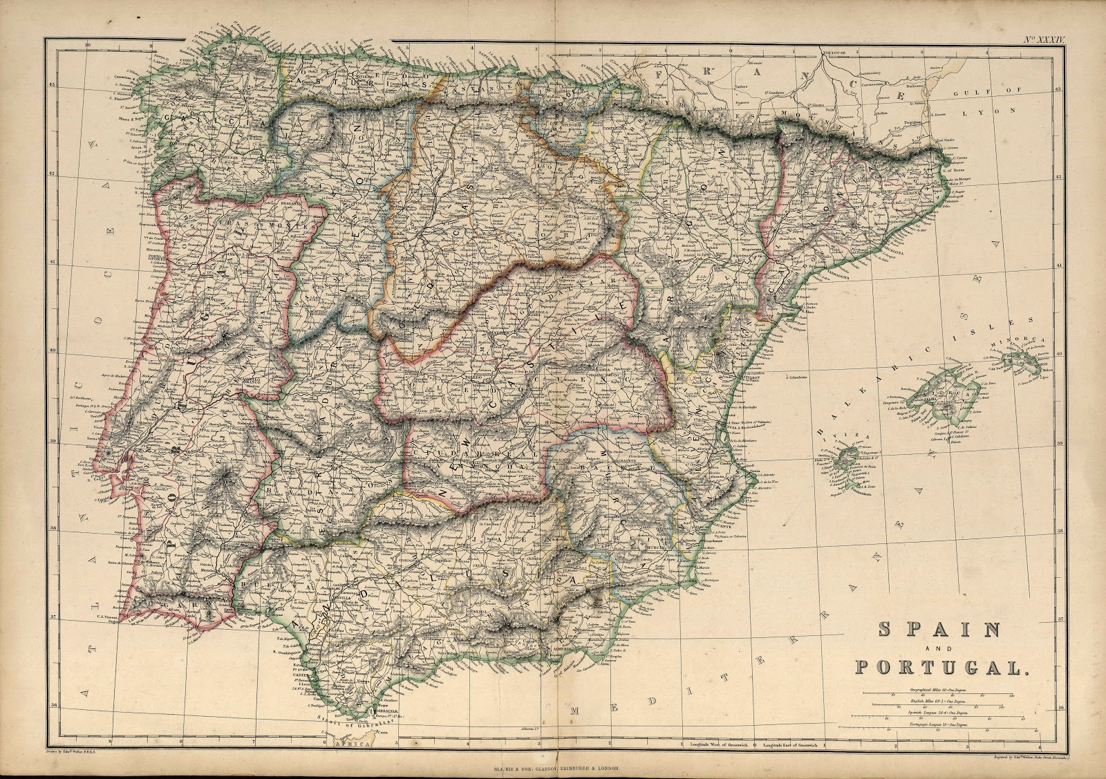 España y Portugal 1860-1893 Edward Weller