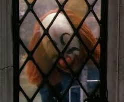 Clown at window