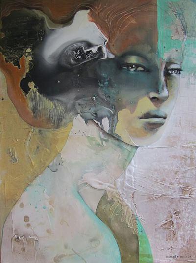 Pascale Pratte 帕斯卡爾 Pratte 加拿大 女藝術家-超現實主義的肖像油畫。。。 - ☆平平.淡淡.也是真☆  - ☆☆milk 平平。淡淡。也是真 ☆☆