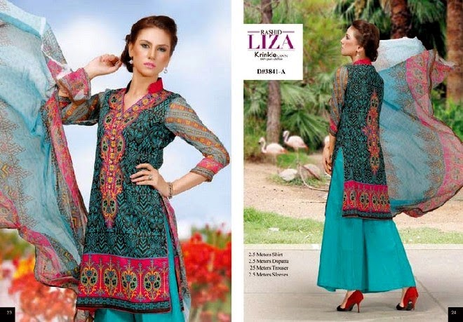 Rashid Liza Krinkle Lawn Collection 2014 Volume-3