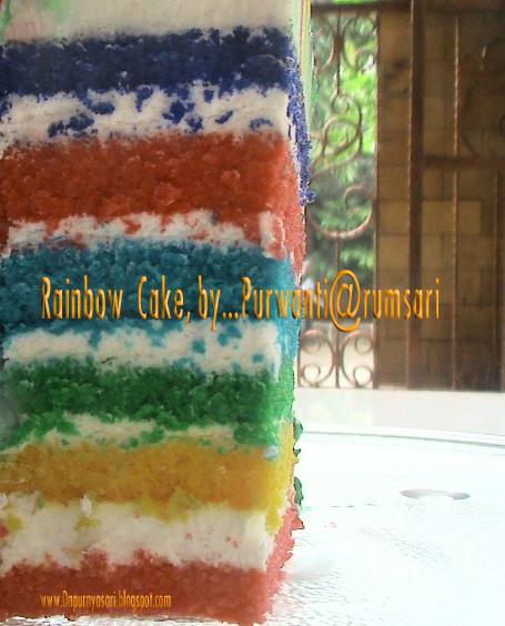 Resep Martha Stewart Rainbow Cake
