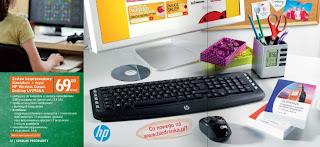 Zestaw bezprzewodowy klawiatura + mysz HP Wireless Classic Desktop LV290AA z Biedronki
