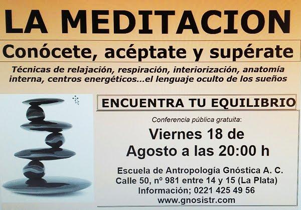 CONFERENCIA PUBLICA EN LA PLATA (BS.AS).