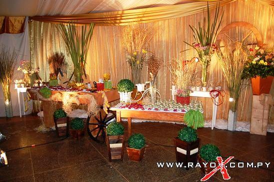 Decoracion para fiesta de 15 a os motivo rustico fino for Ornamentacion para 15