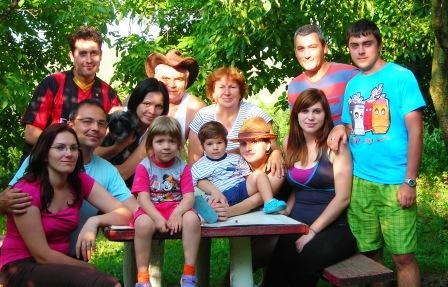 Toata familia , in august 2011, la Armasoaia...