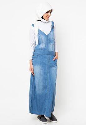 Model Baju Overall Kodok Jeans Longdress Casual